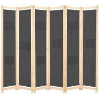 Benitez Room Divider by August Grove - Grey