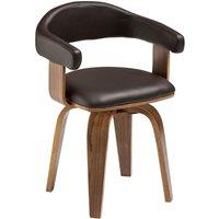 Bentwood Chair,Brown Leather Effect - BIG LIVING