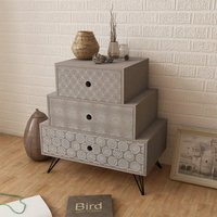 Berton 3 Drawer Bedside Table by Grey - Brayden Studio