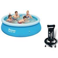 Bestway 8ft Fast Set Paddling Pool With Bestway 12' Air Hammer - Inflation Pump