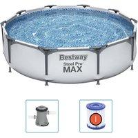 Bestway Set Piscina Steel Pro MAX 305x76 cm - Grigio