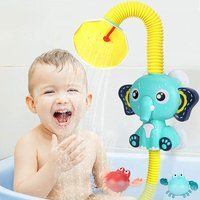 BETTE Shower Head Bath Toys for Children Elephant Electric Baby Bath Toy Elephant and Crab Floating Wind Up Toy Bath Tub Swimming Pool Toy Sprinkler