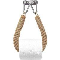Betterlife - BETTE Toilet Paper Holder, Hemp Rope Towel Holder for Bathroom and Kitchen Bathroom Paper Holder Toilet Towel Roll Holder (Yellow)