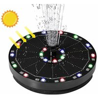 BetterLife Solar Energy Fountain Hanging Outdoor Pool Floating Water Fountain Flowing Storage Battery 7V3W With Colorful Lights Fountain Bird Wants