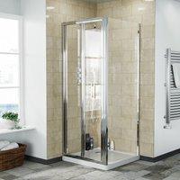 Bi-Fold Folding 760 mm Glass Door with Frameless 760 mm Side Panel - NESHOME