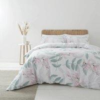 Bianca Anise Blush Super King Duvet Cover Set 400TC 100% Cotton Reversible Bedding
