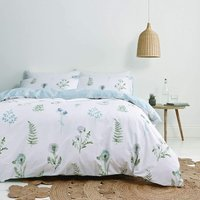 Bianca Meadow Flowers White Double Duvet Cover Set Reversible Bed Linen Bedding