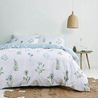 Bianca Meadow Flowers White Super King Size Duvet Cover Set Reversible Bed Linen Bedding
