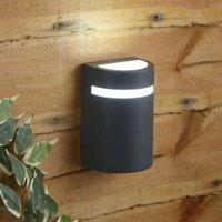 Biard Curved Modern IP54 Outdoor Up Wall Light Garden Patio Porch Door GU10