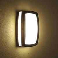 Modern Black Outdoor Bulkhead Wall Security Light IP54 Garden Patio Porch - Biard