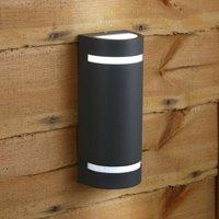 Biard Curved Modern IP54 Outdoor Up Down Wall Light Garden Patio Porch Door GU10