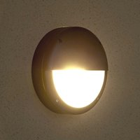 Modern Eyelid Round Bulkhead Wall Light - IP54 Outdoor Garden Patio Porch - Biard