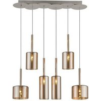 Bibu Hanging Lamp - Cylinder Pendant Light - Made in Glass,