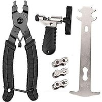 Bicycle Chain Tool Set, Bicycle Link Pliers + Chain Drift Tool + Chain Checker + Bike Chain Quick Couplers