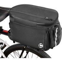 Thsinde - Bicycle insulated luggage rack bag, 10 liters large-capacity bicycle trunk cold storage bag, with double zipper side pockets, reflective