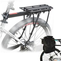 Bicycle Outdoor MTB Mountain Bike Black Rear Pannier Carrier Rack Seat Post Kits - UNHO
