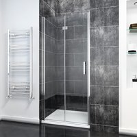 Bifold Shower Door Glass Shower Enclosure Reversible Folding Shower Door 900mm