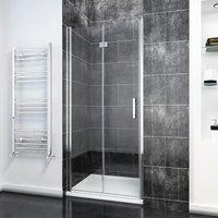 Bifold Shower Door Glass Shower Enclosure Reversible Folding Shower Door 700mm