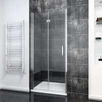 Frameless Bifold Shower Door 1000mm Reversible Folding Shower Door - Elegant