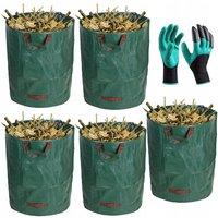 Big Garden Bag Bag Set Leaf Bag Garden Milling Bag Garbage Bag 272L * 5pc