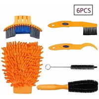 Bike Cleaning Tool Set 6 Pieces Bicycle Clean Brush Kit for Bicycle Chain / Tire / Sprocket Cycling Corner Stain Dirt Clean - Fit for Mountain Bike