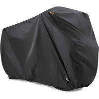 Bike cover for 2 bikes, in 190T nylon Waterproof bike cover dustproof UV rain protection for MTB / road bike with Lock-holes Storage bag