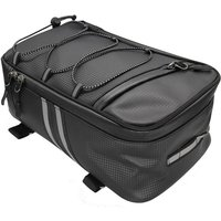 Asupermall - Bike Rack Rear Carrier Bag Trunk Bag PU Leather Waterproof 9L Large Capacity Storage Luggage Cycling Storage Bag Mountain