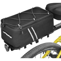 Anmeilu - Bike Trunk Bag 7L Bicycle Rear Bag Bike Rack Bag with Waterproof Rain Cover,model:Polyester Black 7009