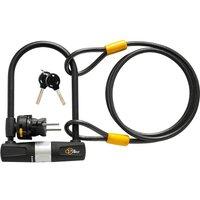 Bike U Lock with Cable-Via Velo Bike Lock Heavy Bike U Lock 14mm Shackle 10mm x 1.8m Cable with Mounting Bracket Suitable for Road Bike Mountain Bike