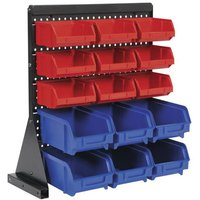 TPS1569 15 Bin Bench Mounting Storage System - Sealey