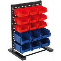 TPS1569 Bin Storage System Bench Mounting 15 Bins - Sealey