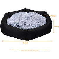 BingoPaw Deluxe Dog Bed Pet Large Round Cuddler Calming Nest 2 Side Soft Cushion,Black L 100 x 19 cm - UNHO