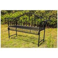 BIRCHTREE Metal Garden Bench MGB01 Black
