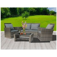 BIRCHTREE Rattan Furniture Set RFS02 Grey