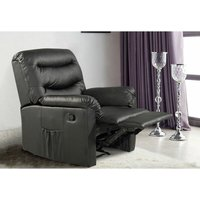 Birlea Regency Recliner Chair Black Faux Leather Reclining Armchair