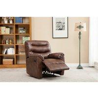 Birlea Regency Recliner Chair Bronze Brown Faux Leather Reclining Armchair
