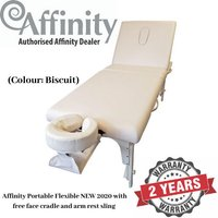 (Biscuit) Affinity Massage Table - Portable Flexible NEW 2020 (with face cradle and arm rest sling)