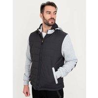 Bisley Workwear Flex and Move Long Sleeve Hooded Puffer Fleece Jacket - Contrast - Medium