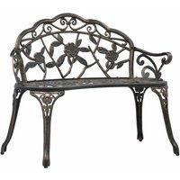 vidaXL Bistro Bench 100cm Bronze Cast Aluminium - Brown