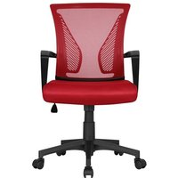 Desk Chair Adjustable Executive Computer Office Chair - Red