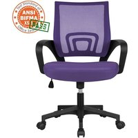 Executive Desk Chair Adjustable and Swivel Home Office Chair, Purple