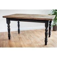 Black Farmhouse Dining Table 122 cm