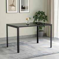 Black Glass Dining Table 120x80x75cm