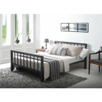 Tl Beds - Black Micro Slatted Metal Bed Frame - Small Double 4ft