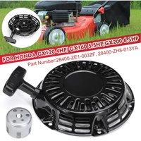 Lbtn - Black Recoil Lawn Mower Starter Set + Pulley Cup For Honda GX120 4HP / GX160 5.5HP / GX200 6.5HP