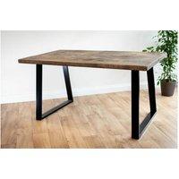 Black Trapezium Dining Table 122 cm