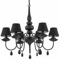 Ideal Lux - Black WHITE pendant light 6 bulbs