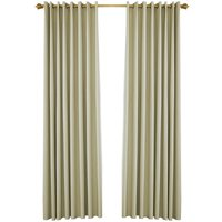 Blackout Curtains for Bedroom Grommet Insulated Room Curtains for Living Room, Set of 2 Panels (53*83in),model:Beige 53W X 83L in