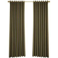 Blackout Curtains for Bedroom Grommet Insulated Room Curtains for Living Room, Set of 2 Panels (53*95in),model:Coffee 53W X 95L in