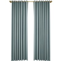 Blackout Curtains for Bedroom Grommet Insulated Room Curtains for Living Room, Set of 2 Panels (53*83in),model:Light Green 53W X 83L in